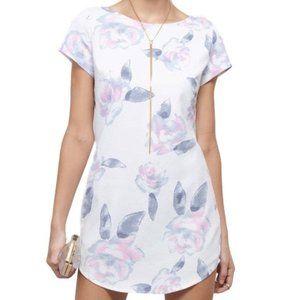 Tobi White Floral Tunic Shift Summer Dress S NWT